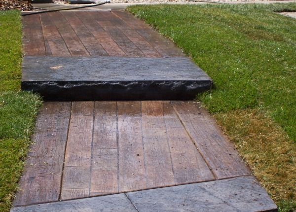Stamped Concrete Wood Plank Texture