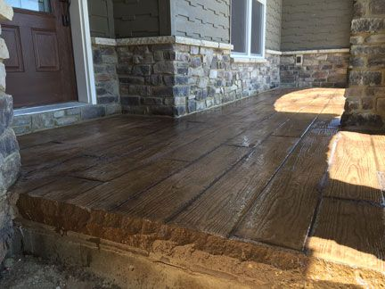 Stamped Concrete Wood Plank Texture Great Plains Concrete