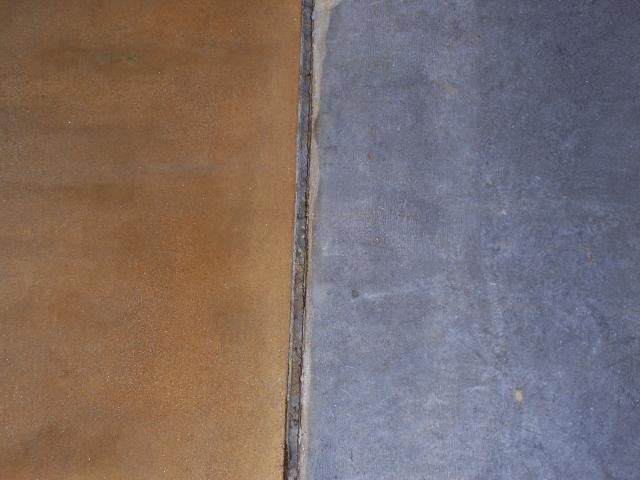 stained plain concrete comparison